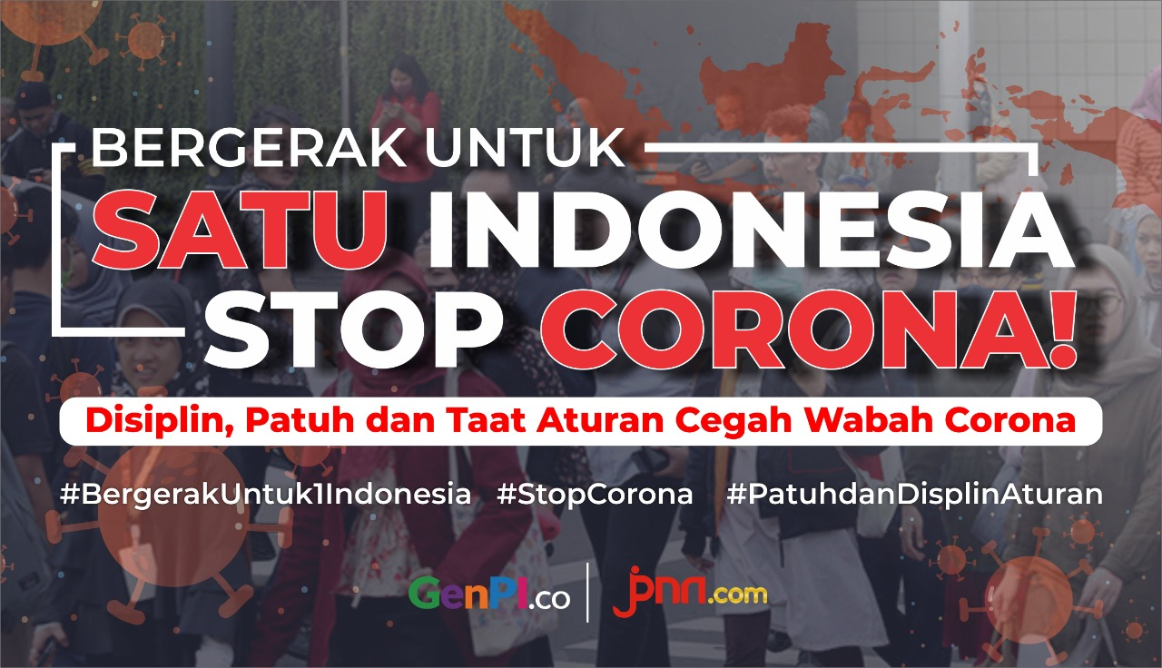 Bergerak untuk satu Indonesia stop corona!