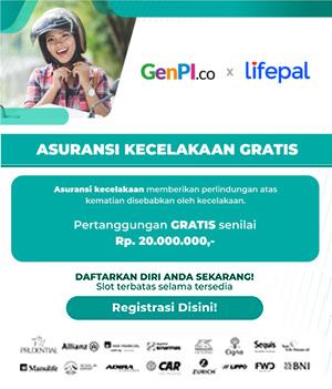 Asuransi Kecelakaan Gratis GenPI.co x Lifepal