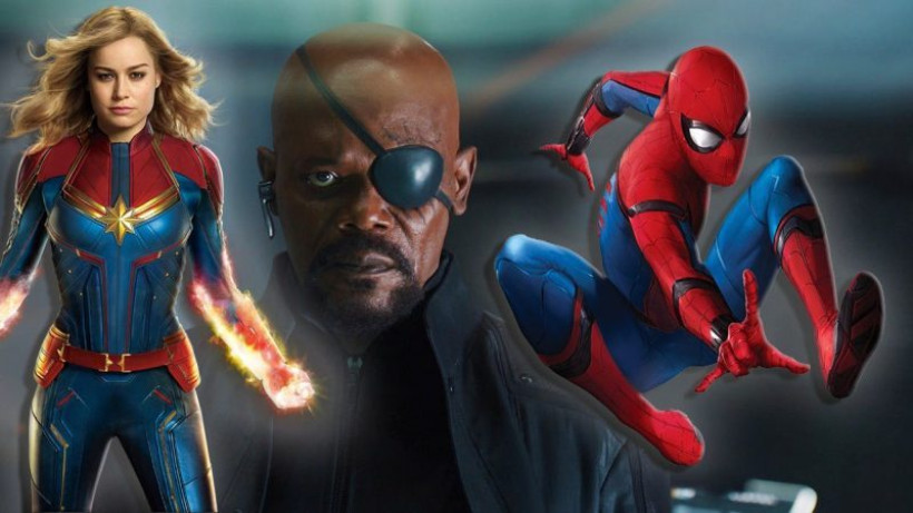 Captain Marvel, Nick Fury, dan Spider-Man(foto: gvnation.com)