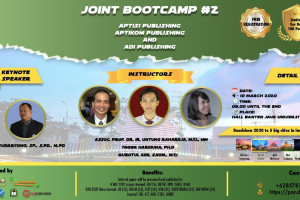JOINT BOOTCAMP #2 with ADI PUBLISHING, APTIKOM PUBLISHING, ADI PUBLISHING - Universitas Banten jaya