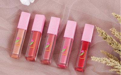 Lip Cream Sarita Beauty Varian Peach Lotus Samarkan Bibir Gelap
