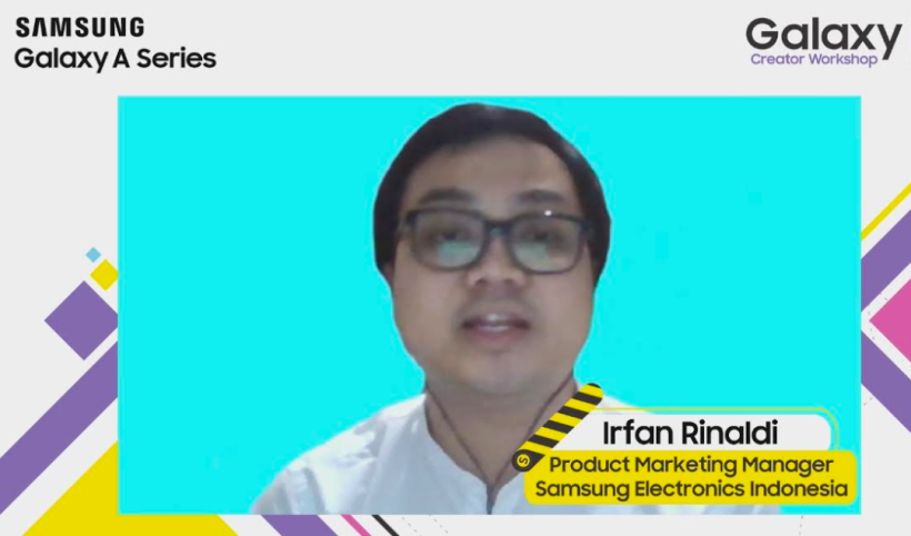 Product Marketing Manager Samsung Mobile, Samsung Electronics Indonesia, Irfan Rinaldi.