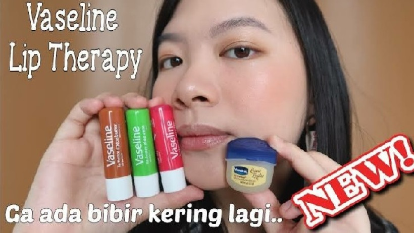 ilustrasi Vaselin Lip Therapy. (sumber: sc YouTube Ester Wijaya)