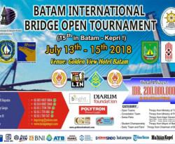 Batam International Bridge Open Tournament 2018 Siap Digelar