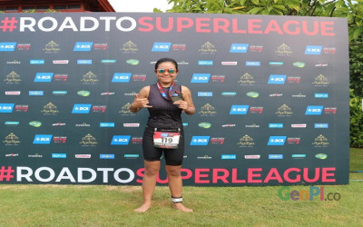 Sella Windi Warga Wonosobo Juara 2 Super League Triathlon Bali