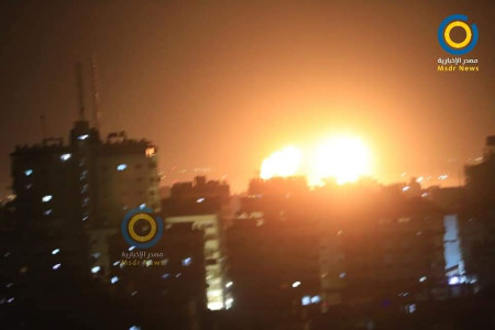 Balon-balon Hamas Dibalas Misil Israel, Langit Gaza Memerah