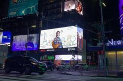 Ada Wajah Kece Iqbaal di Times Square New York, Wow | Genpi.co - Palform No 1 Pariwisata Indonesia