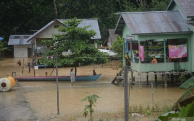 Banjir Kiriman dari Malaysia, Ratusan Rumah di Nunukan Terendam
