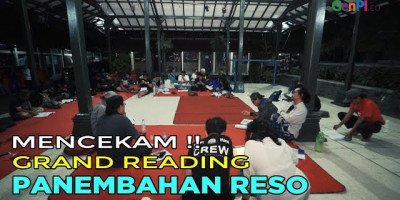 Grand Reading Teater Panembahan Reso Rasa Pementasan